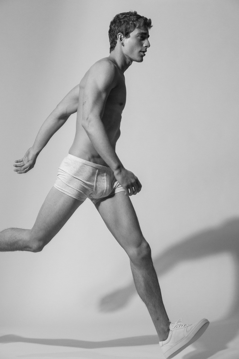 Topmodel Eric Fraga was shot in underwear by paul james hay for the encore magazine represented by core artist management in berlin the capital of germany