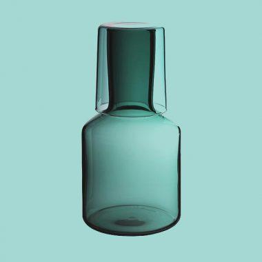 Maison Balzac Teal Carafe & Glass
